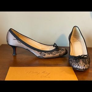 Christian Louboutin Lace Kitten Heel Pumps 40